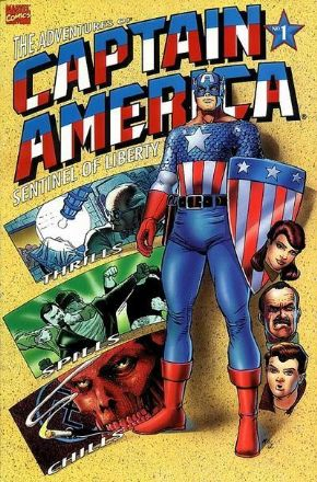 Adventures Of Captain America #1 (1991) Red Skull Marvel comic book